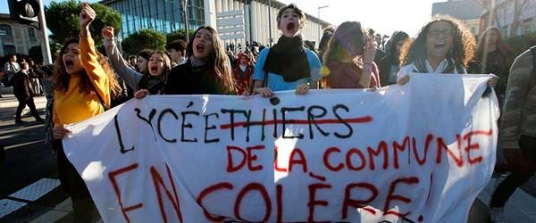 Fransa'da 700'den fazla lise öğrenci gözaltında