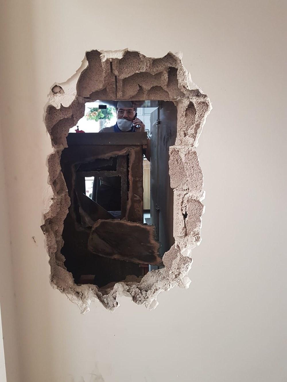 Maskeyle geldiler duvarı kırıp girdikleri kuyumcuyu soydular - 4