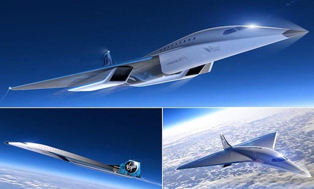 Uzay şirketi tasarımını paylaştı! İşte sesten 3 kat hızlı giden süpersonik jet - 4