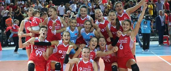 A Milli Kadın Voleybol Takımı çeyrek finalde