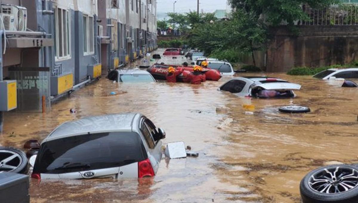 Güney Kore'de şiddetli yağış: 5 ölü, 7 kayıp