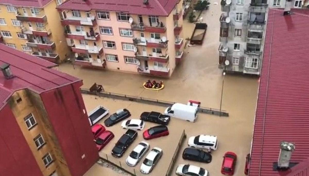 NTV sel bölgesinde: İlçe merkezi su altında kaldı