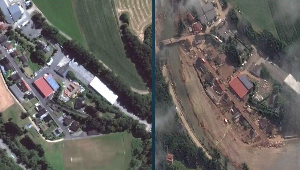 Almanya'da sel felaketinin öncesi ve sonrası