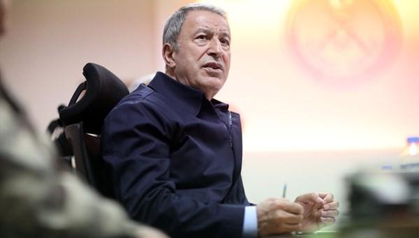 Bakan Akar'dan Barış Pınarı açıklaması: Günde 10-15 taciz var