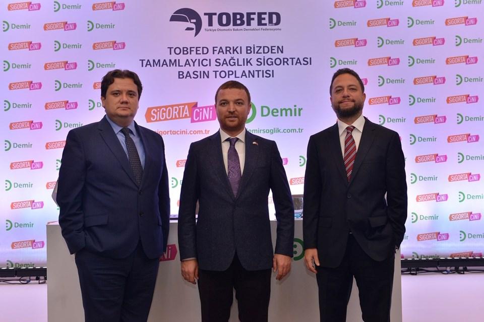 Sigorta Cini Genel Müdürü Erdem Aydınlı-TOBFED Genel Başkanı Serkan Bakırtaş-Demir Sağlık Genel Müdürü Viktor Hodara