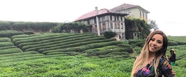 Sosyal medyada ünlenen Rize'deki çay bahçesi turist akınına uğruyor