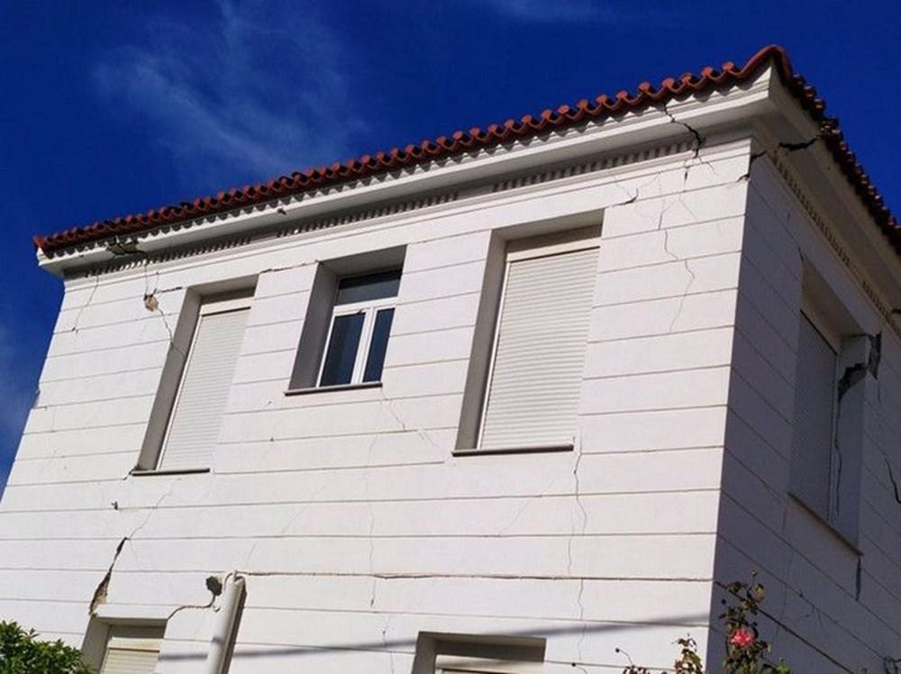 Depremin merkez üssü Yunan adası Sisam'dan ilk fotoğraflar - 9