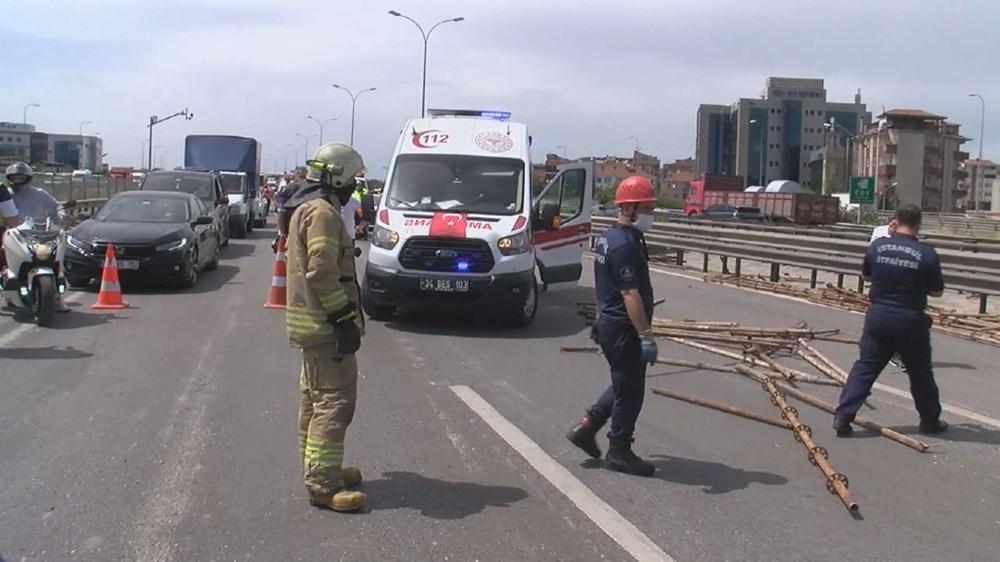 TEM'de kamyon devrildi: Ankara istikameti trafiğe kapandı - 3