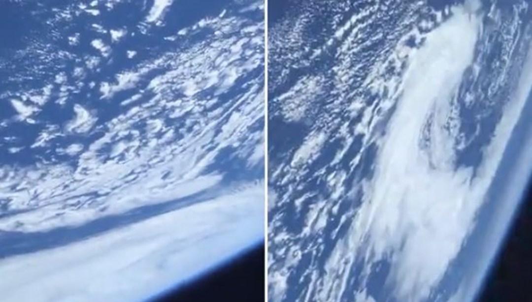 NASA astronotundan ilk paylaşım (Tarihi görev ile uzaya çıkmıştı)