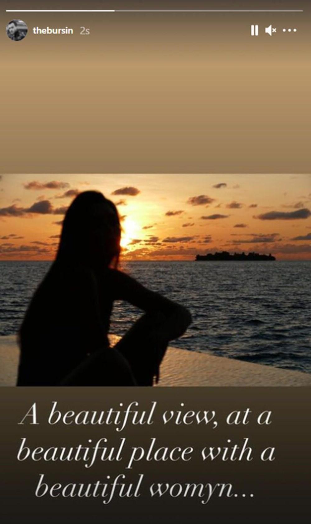 Hande Erçel ve Kerem Bürsin'den Maldivler tatili fotoğrafları - 3