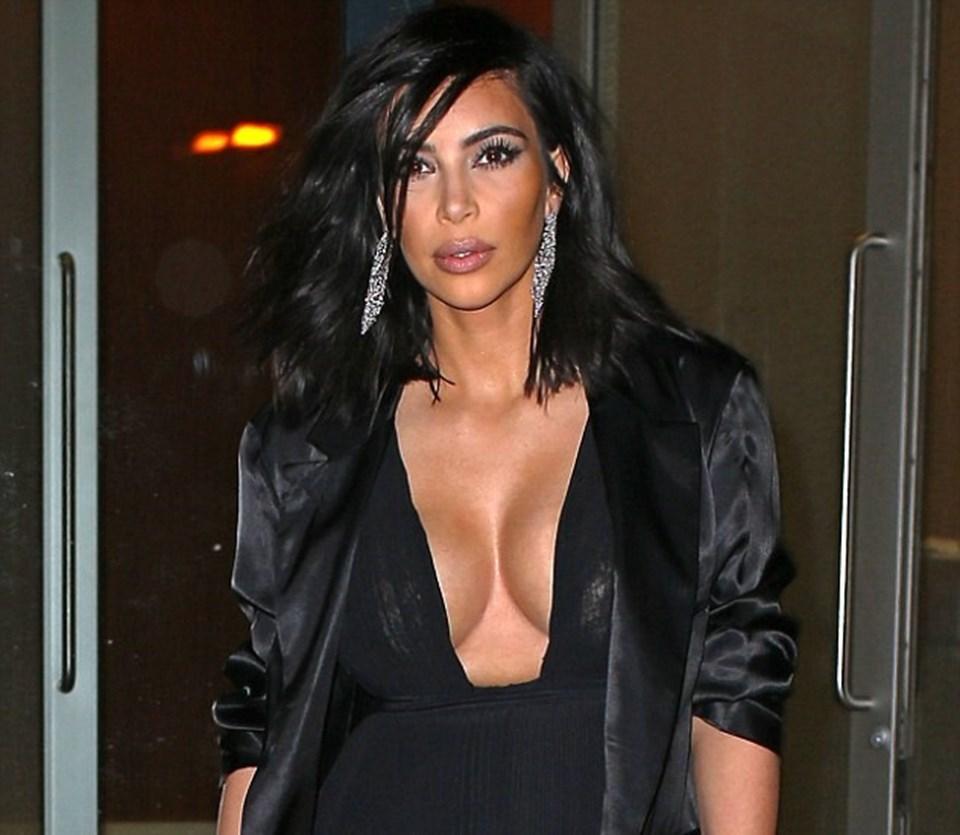 Sıcaklığın eksi 5 derece olduğu New York'ta bir restorandan çıkan Kardashian, böyle görüntülenmişti.