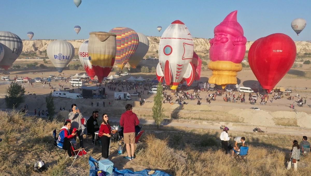 Gökyüzünde 30 dakikalık görsel şölen: Uluslararası 2. Kapadokya Sıcak Hava Balon Festivali