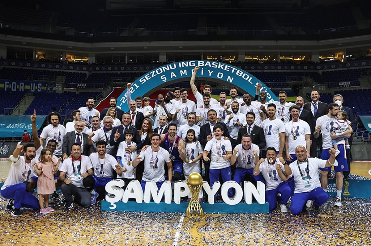 SON DAKİKA:Basketbol Süper Ligi'nde şampiyon Anadolu Efes