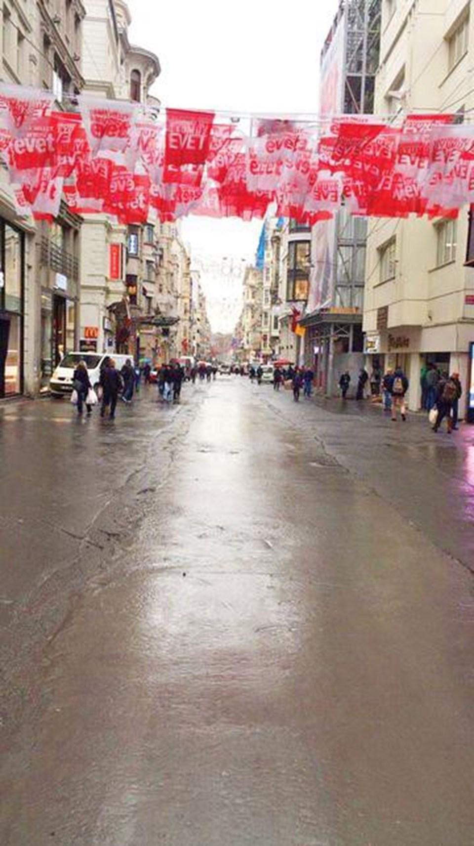 İstiklal Caddesi'nin şimdiki görüntüsü