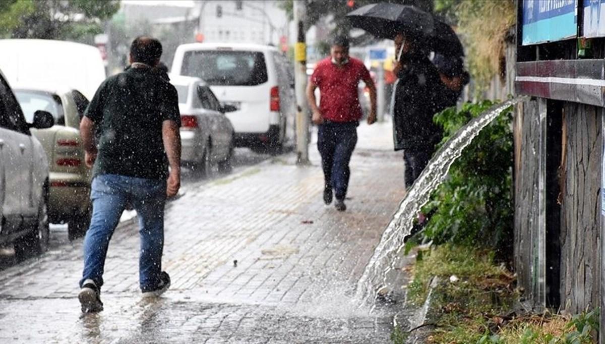 Meteoroloji'den 9 il için 'kuvvetli yağış' uyarısı (8 Temmuz hava durumu)