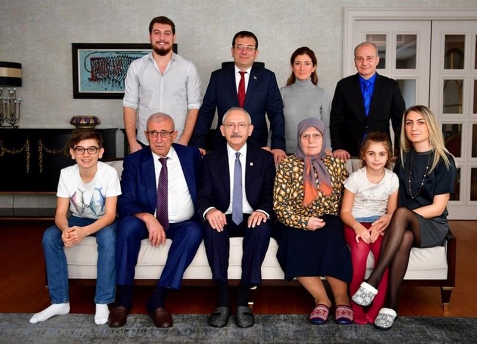 CHP lideri Kılıçdaroğlu İmamoğlu ailesi ile birlikte