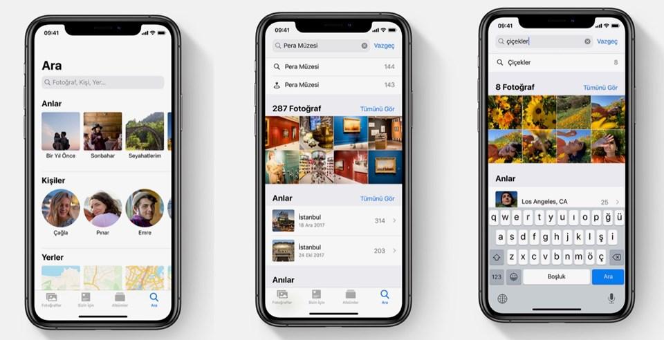 Fotoğraflar sekmesinin iOS 13 ile kazandığı yeni özellikler.