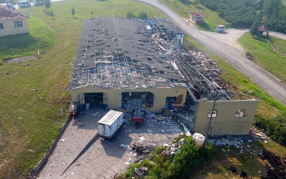 Sakarya'da patlamanın olduğu alandaki hasar havadan görüntülendi - 15