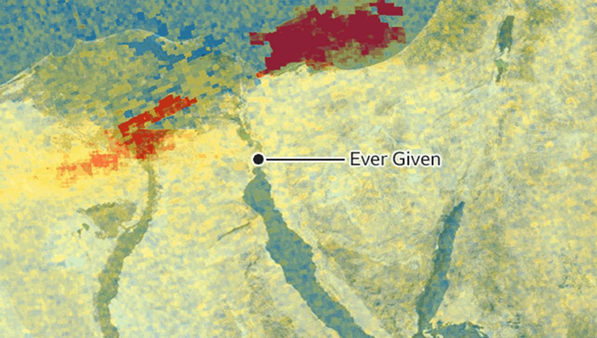 Ever Given not only harms the global economy: pollution in the Mediterranean Sea viewed by satellite