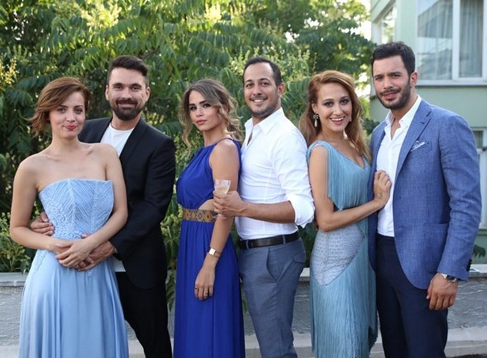 Derya Karadaş-Haki Biçici çiftinin düğünü birçok oyuncuyu biraraya getirdi.