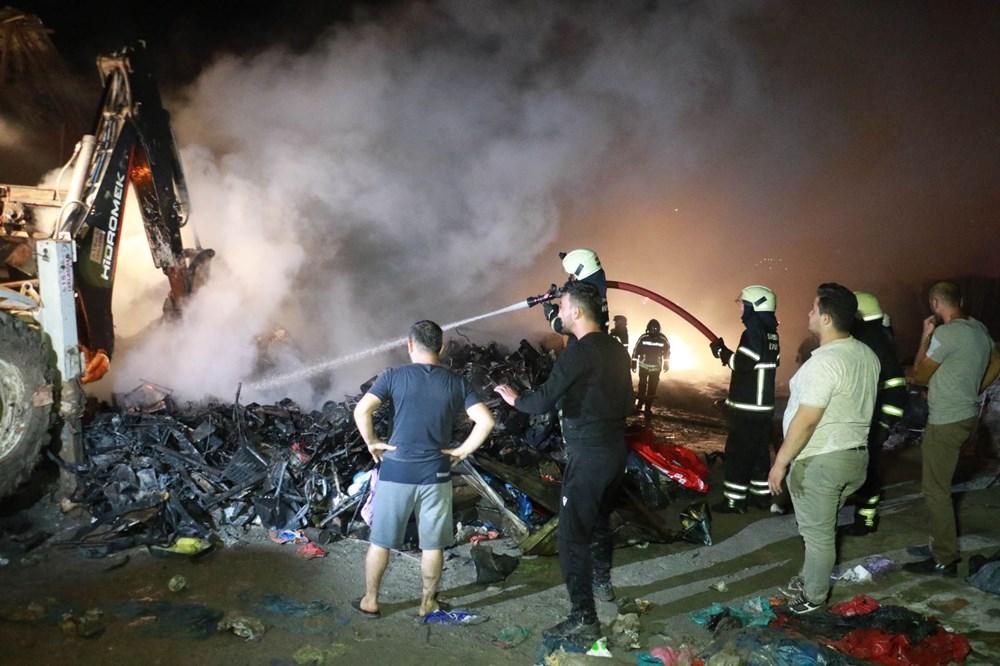 Samsun'da geri dönüşüm deposunda yangın - 3