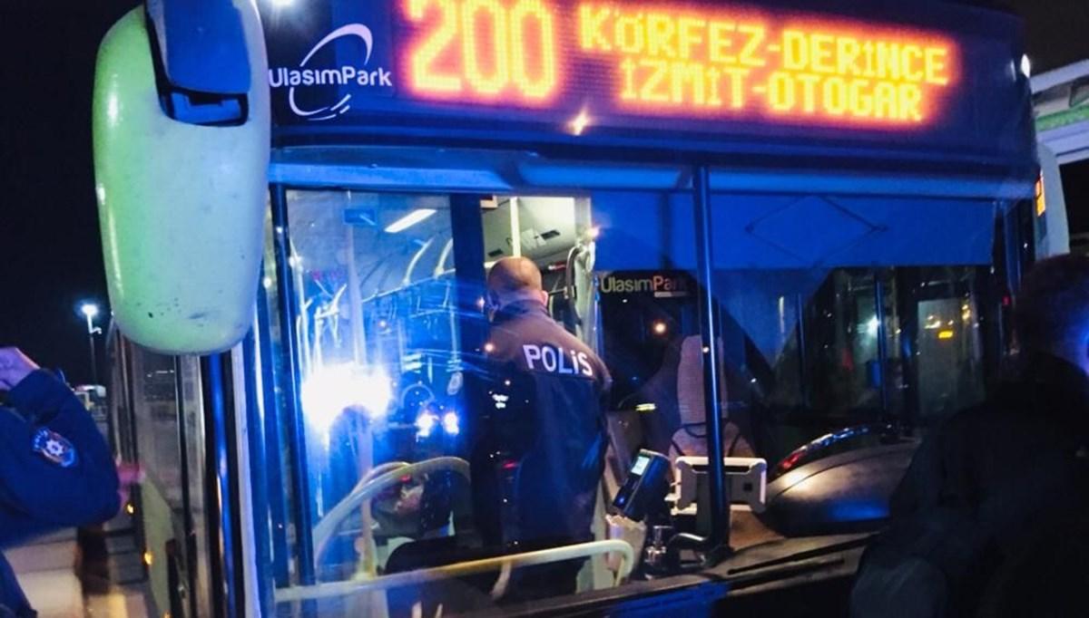 Corona virüs hastası otobüsten inmeyi reddetti