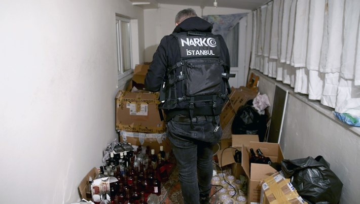 256 ton sahte içkide gözaltı sayısı 80 oldu
