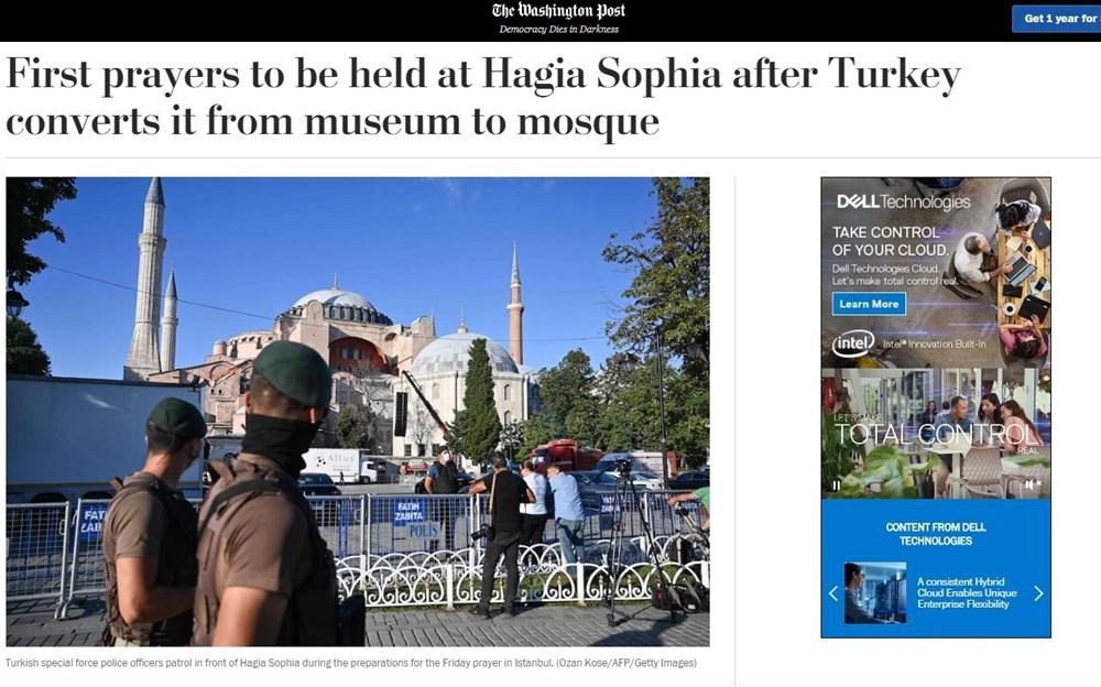86 yıl sonra ibadete açılan Ayasofya Camii dünya basınında - 1