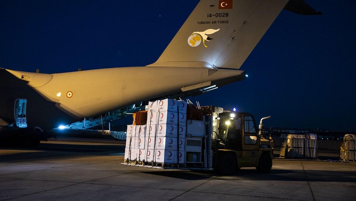 Türkiye'den Lübnan'a yardım malzemesi