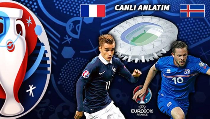 Fransa-İzlanda maçı hangi kanalda?