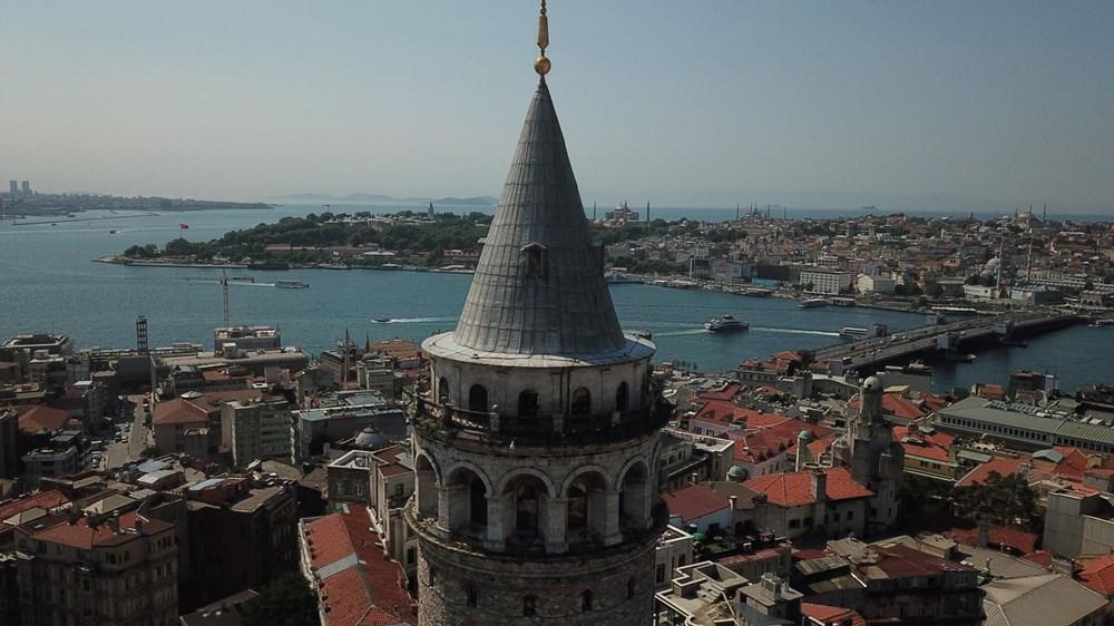 Galata Kulesi'nde restorasyon başladı - 7