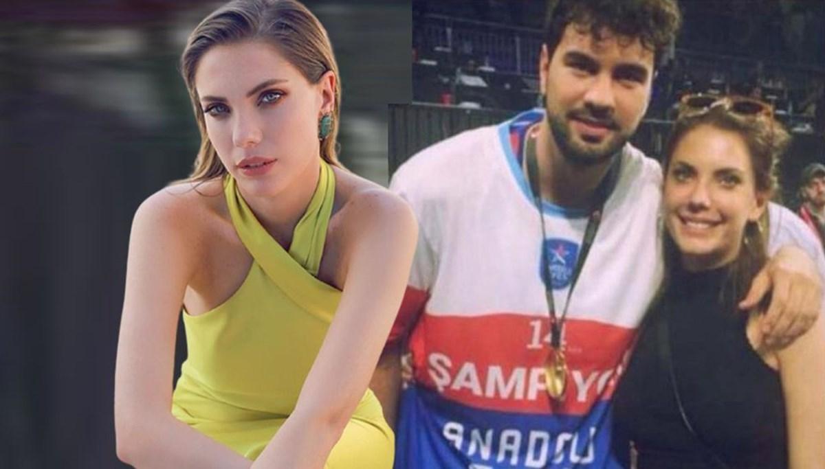 Anadolu Efes'le şampiyon olan Buğrahan Tuncer'e oyuncu sevgilisi Eda Ece'den kutlama