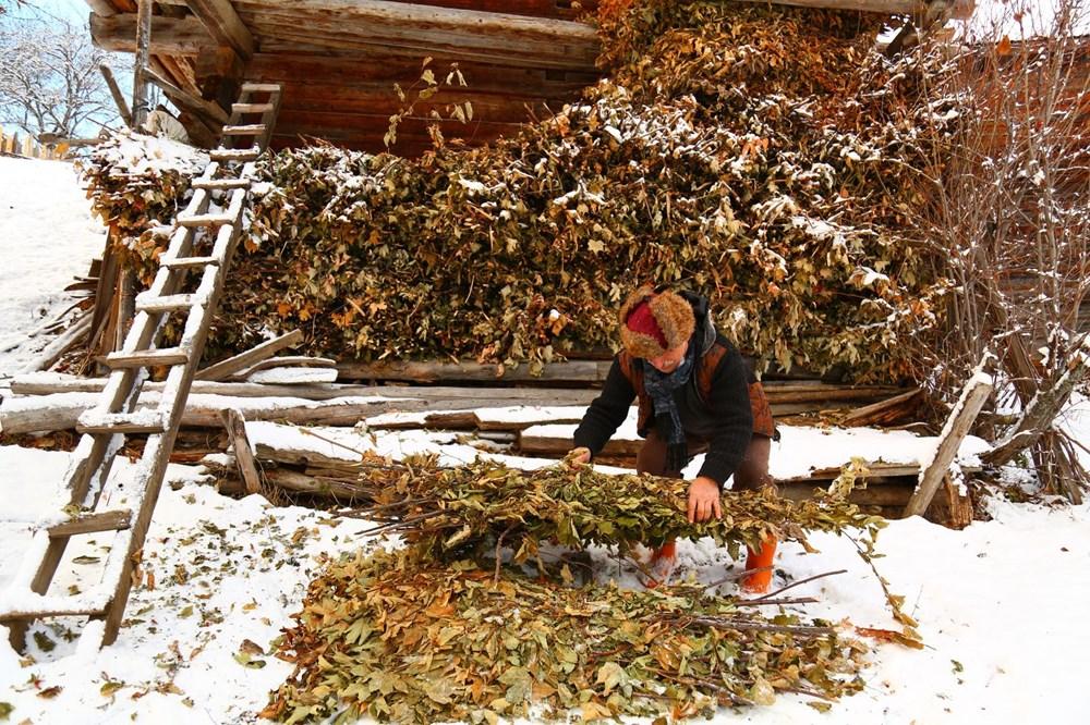 Artvin'deki 2 bin rakımlı Maden Köyü'nde kışı böyle geçiriyorlar - 10