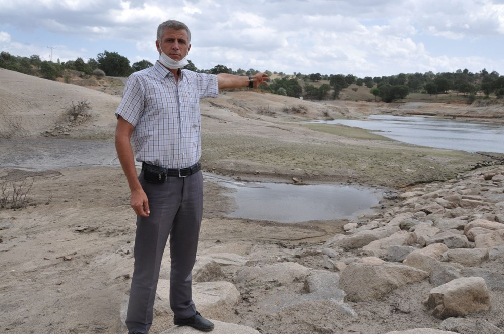 Efir Göleti'inde su seviyesi yüzde 80 azaldı - 8