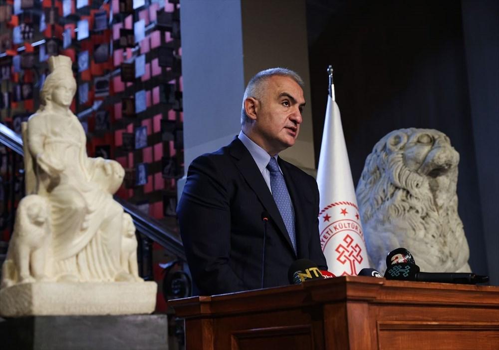 Kültür ve Turizm Bakanı Mehmet Nuri Ersoy Kybele heykelinin tanıtımını yaptı - 3