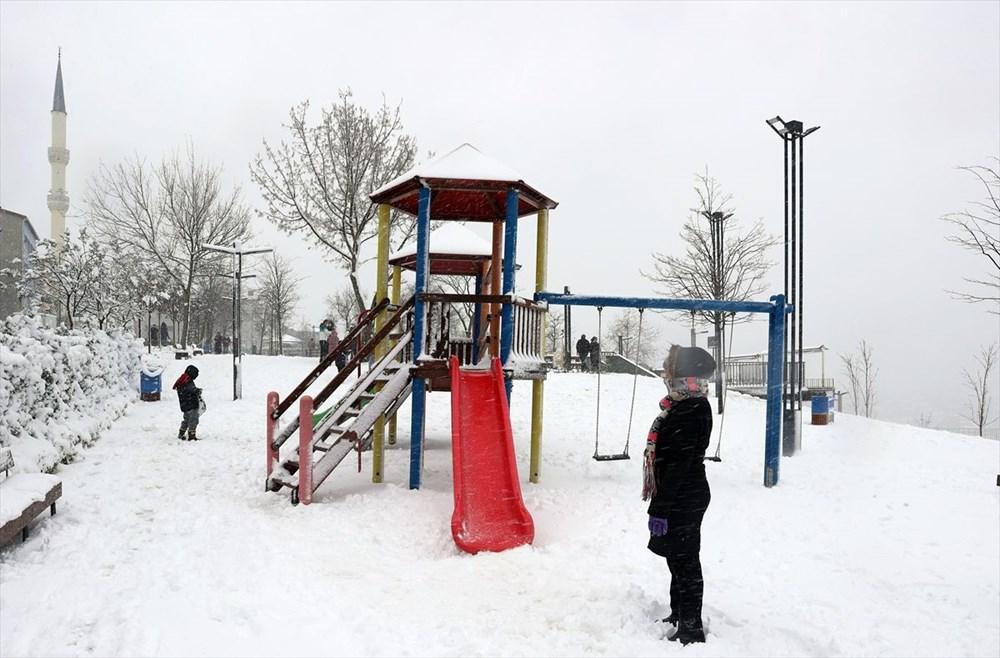 İstanbul'da kar yağışı devam ediyor - 7