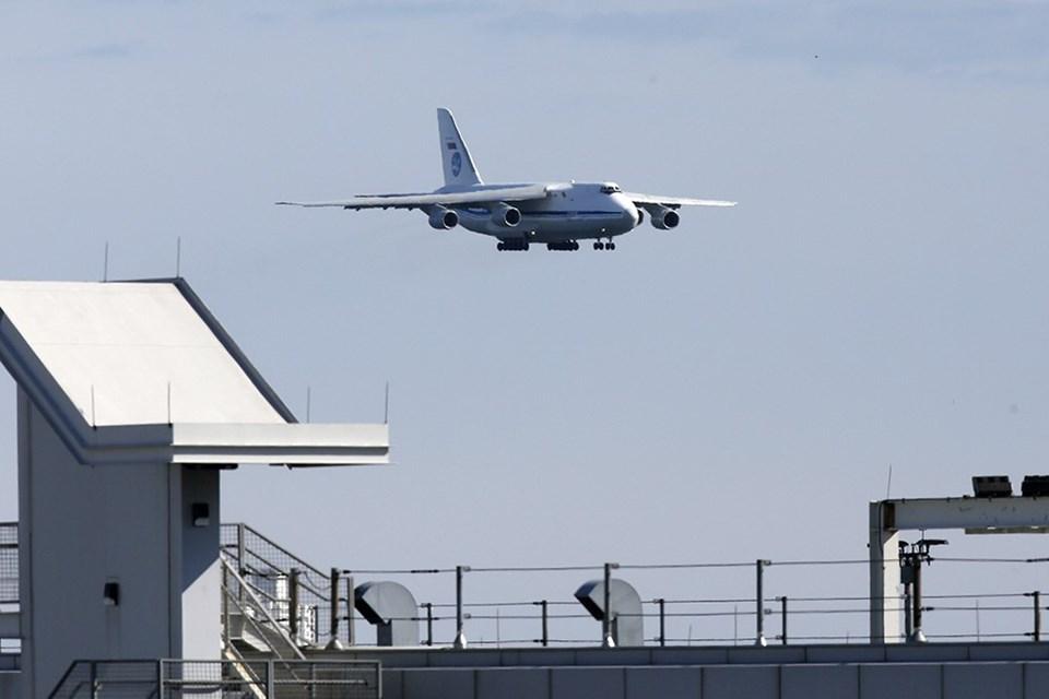 Rus askeri nakliye uçağıiniş yaparken