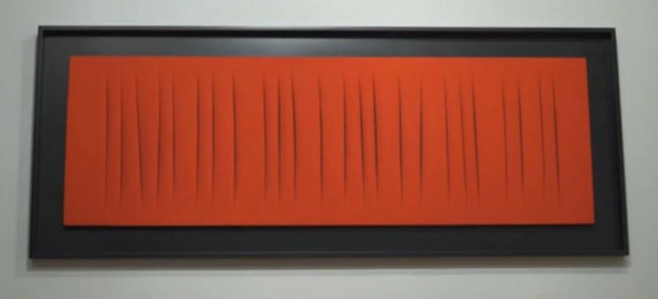 """Lucio Fontana (1965) - """"Concetto Spaziale, Attese"""" / 16,1 milyon dolar"""