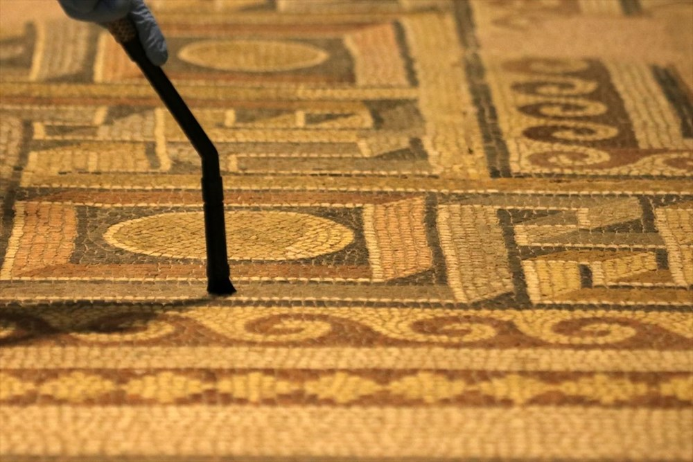 Zeugma Mozaik Müzesi'ndeki eserler, cerrah hassasiyetiyle temizlenerek geleceğe aktarılıyor - 3