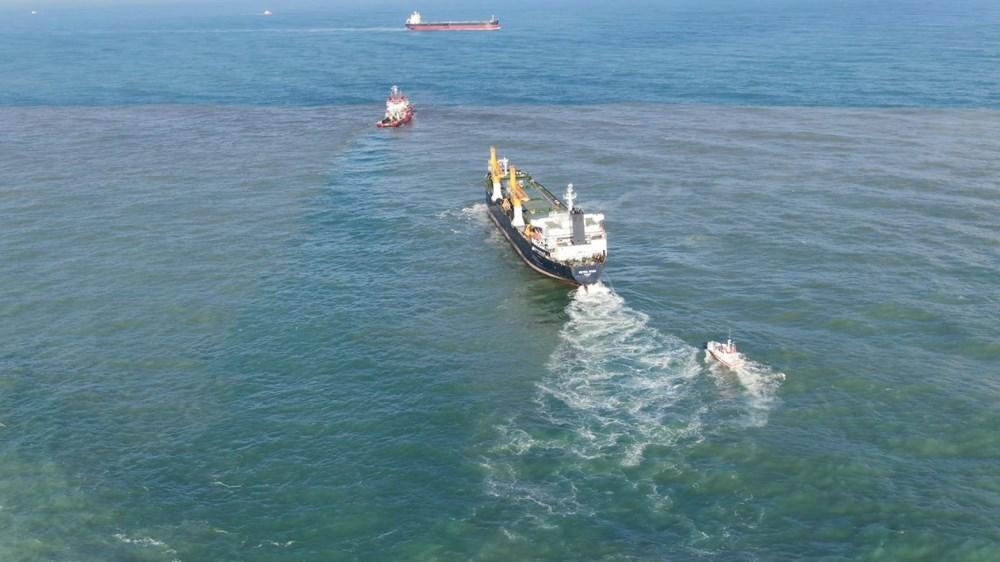 Riva'da sürüklenen kargo gemisi kurtarıldı - 9