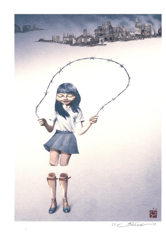 Shahrokh Heidari'nin ikincilik ödülü alan karikatürü