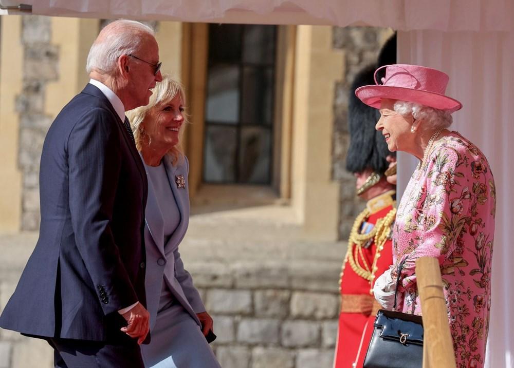ABD Başkanı Biden, İngiltere Kraliçesi Elizabeth ile buluştu - 3