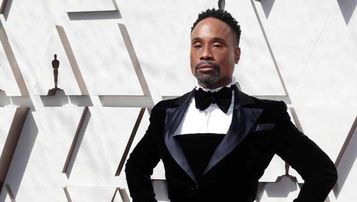 91. Oscar Ödülleri (Oscar 2019) kırmızı halısında elbise-smokin (Billy Porter'ın Cindrella smokini)