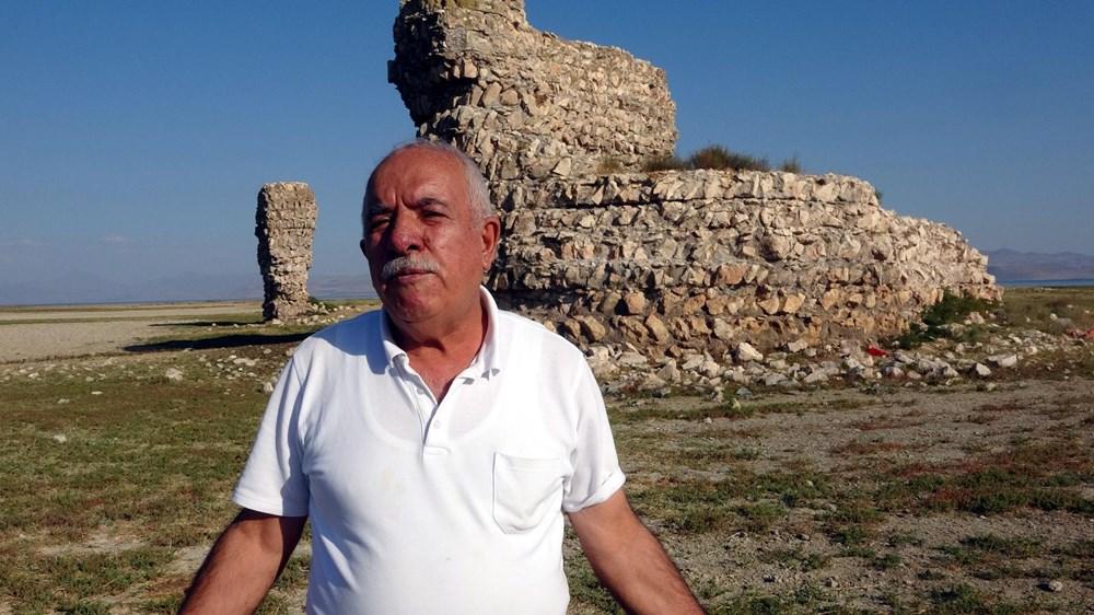 Van Gölü'nde sular çekilince tarihi Erciş Kalesi ortaya çıktı - 5