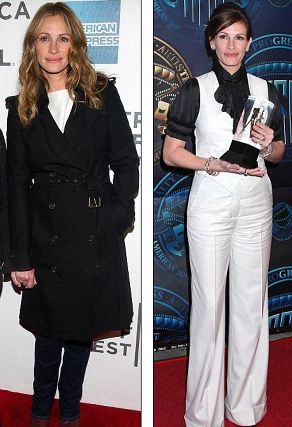 Roberts'ın dün akşamki görüntüsü (solda) ve Şubat ayındaki görüntüsü (sağda)