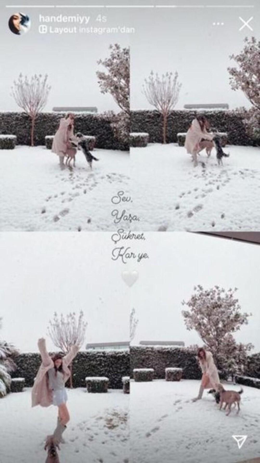 Ünlülerin kar sevinci - 8