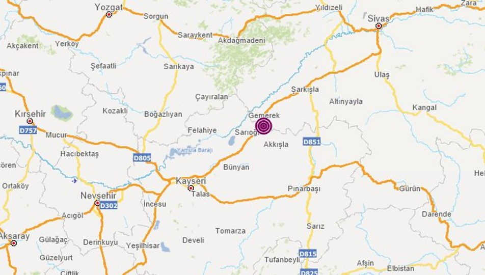 SON DAKİKA HABERİ: Sivas'ın Gemerek ilçesinde 4,4 büyüklüğünde deprem