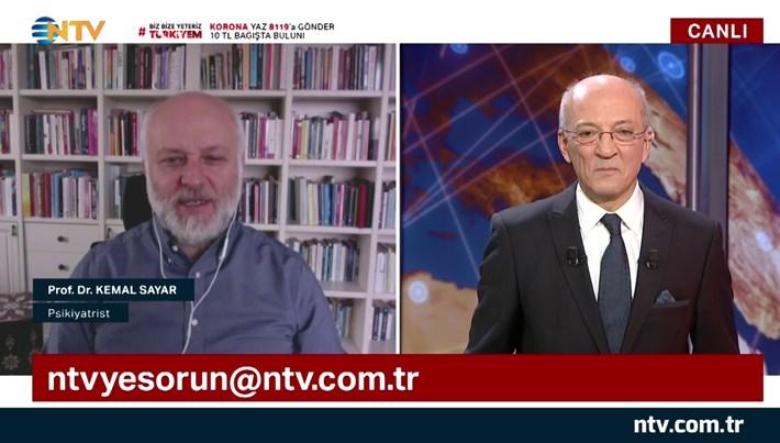 NTV'ye Sorun 3 Nisan 2020 (Konuk: Psikiyatrist Prof. Dr. Kemal Sayar)