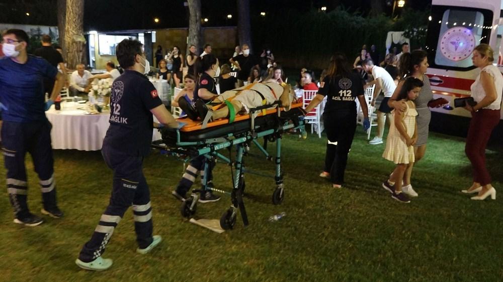 Antalya'da kır düğününde'ağaç' devrildi: 1 ölü - 6