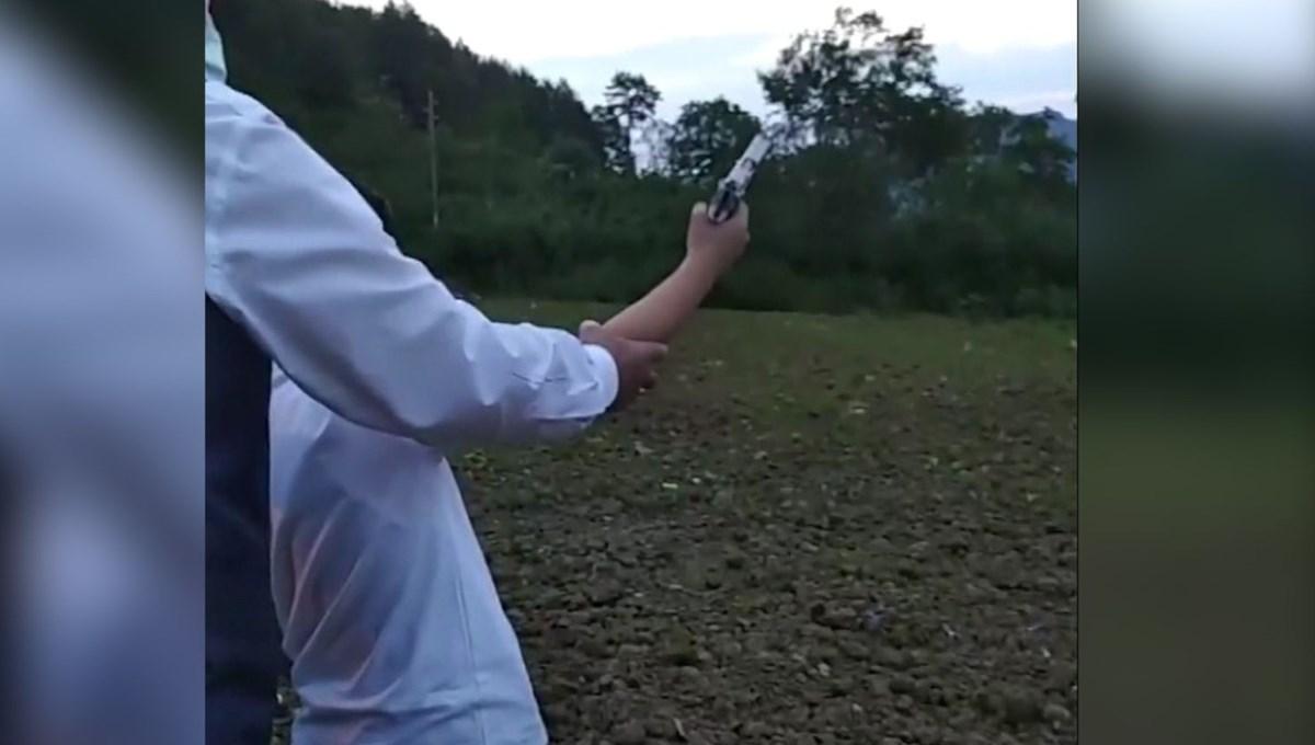 Düğünde çocukların eline silah verip ateş açtırdılar